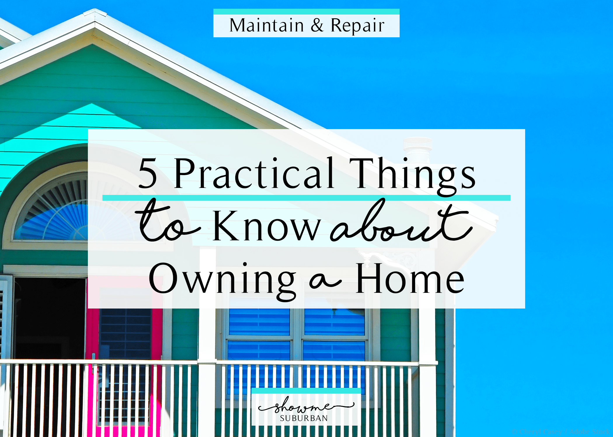 Whether you're a first-time homeowner or you've been in the game for a while, there are some things you should know about owning a home. These 5 homeowner tips are ones that almost no one tells you, but they're vital to successful home maintenance and DIY projects. Includes a free printable home maintenance issues worksheet!