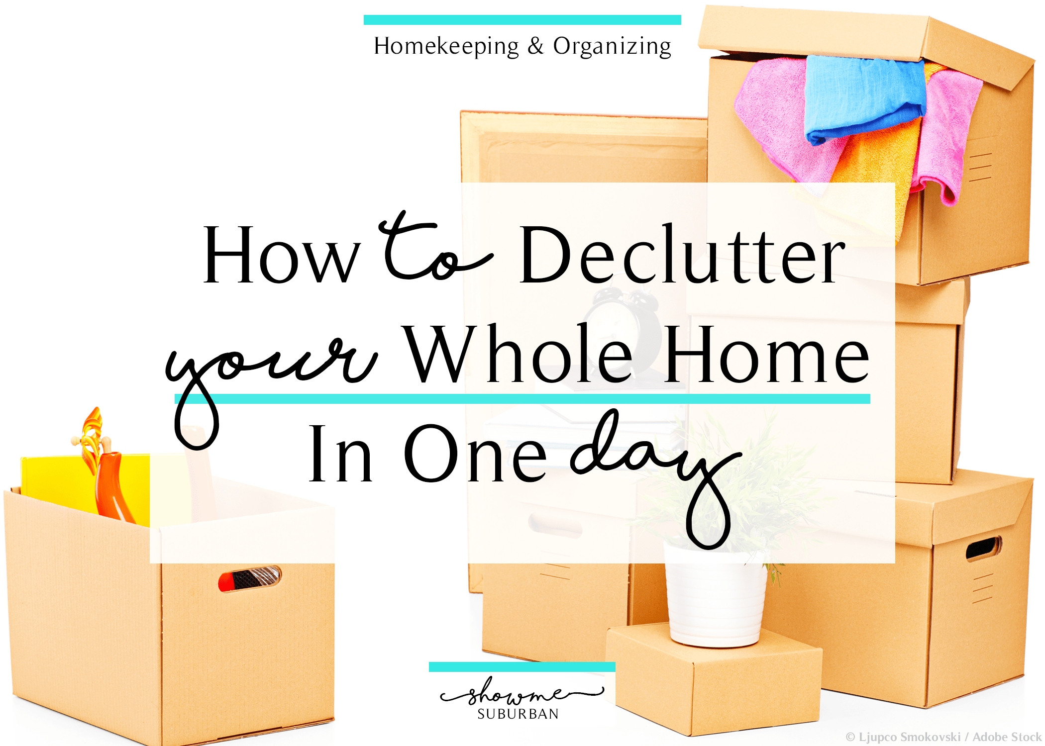 2. Don't bring any new items into your home until the decluttering process is complete.