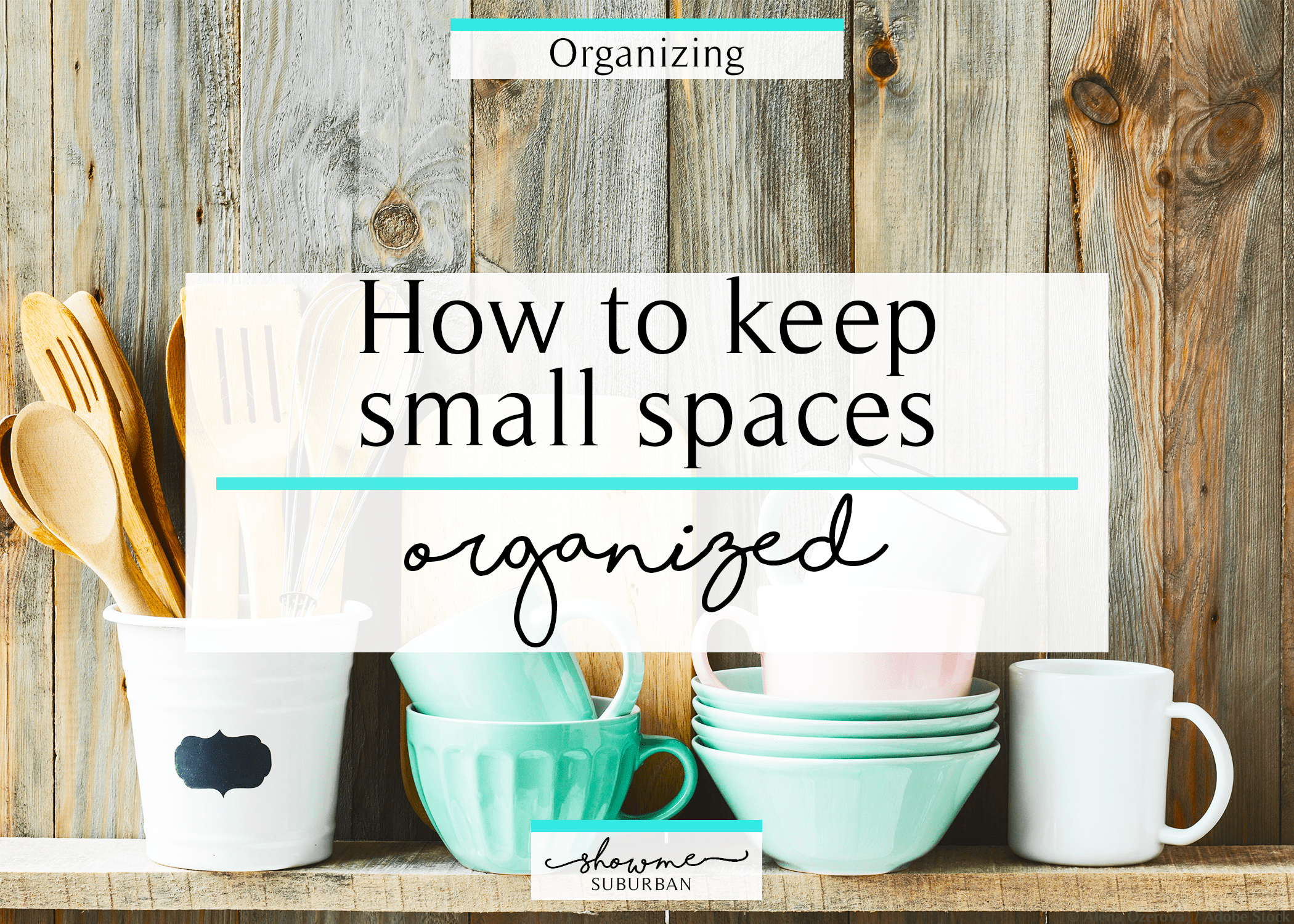 Have a closet, drawer, or cabinet in your home that's always disorganized? Learn how to get and keep small spaces organized in just a few steps. These easy tips are great for organizing the closet, bathroom, or kitchen.