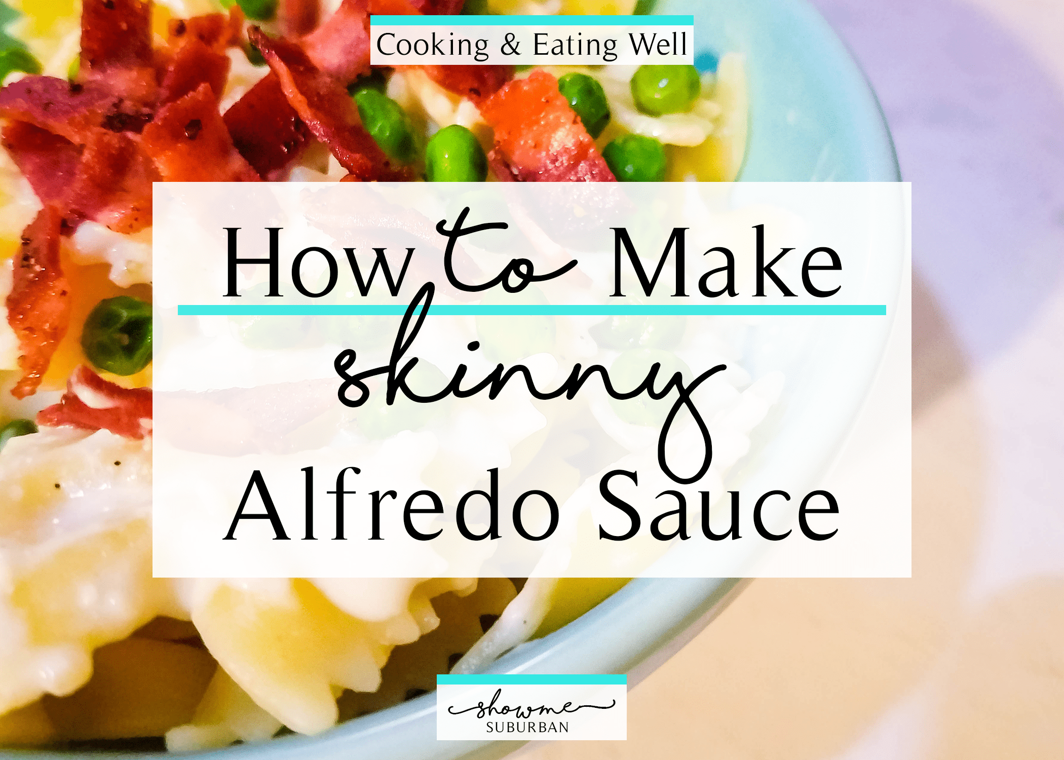 Save your diet and top your pasta with this skinny alfredo sauce! This low-calorie recipe is the perfect topper for a light and healthy dinner for two, and can be easily doubled or tripled to feed a family of 4 or more. #healthy #skinnyfood